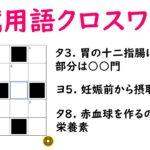 国試クロスワードパズルに挑戦!